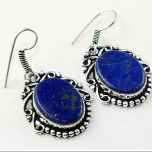 NEW Lapis Lazuli vintage style drop earrings